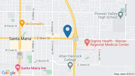 Motel 6 Santa Maria, CA - South Map