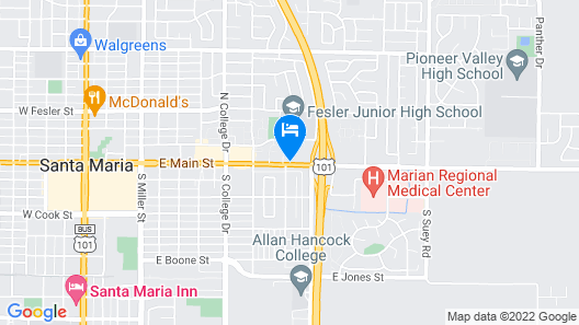 Motel 6 Santa Maria, CA - South Map