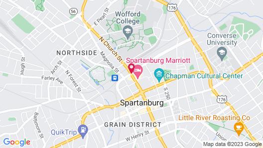 Spartanburg Marriott Map