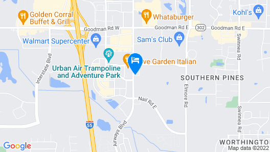 Homewood Suites by Hilton Southaven Map