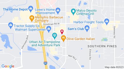 Candlewood Suites Memphis - Southaven Map