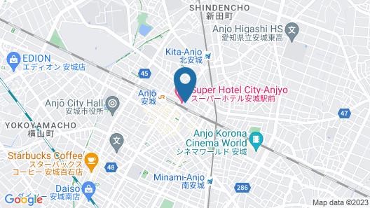 Super Hotel City-anjyo Map