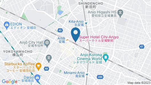 Super Hotel Anjo Map