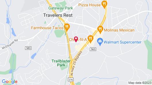 Hampton Inn Greenville/Travelers Rest Map