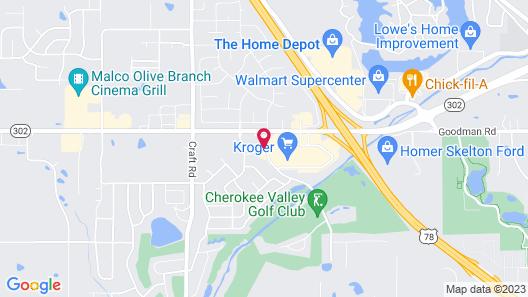Hampton Inn Memphis-Olive Branch Map