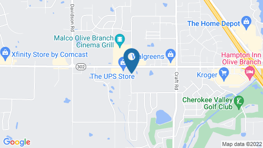 Magnolia Inn and Suites Olive Branch Map