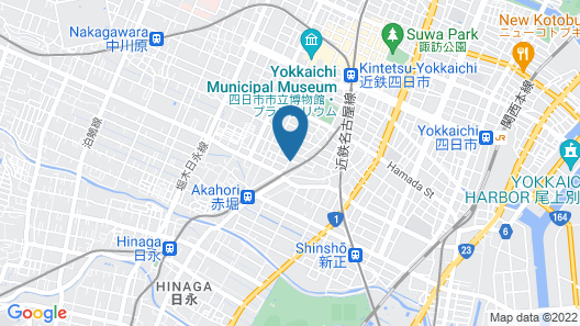 Hotel Castle inn Yokkaichi Map