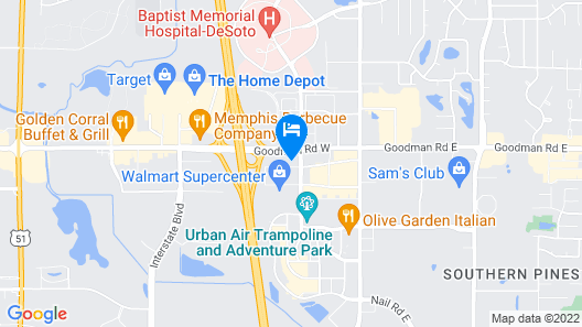 Hilton Garden Inn Memphis/Southaven, MS Map