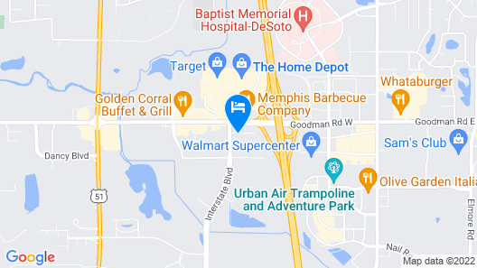 La Quinta Inn & Suites by Wyndham Horn Lake / Southaven Area Map