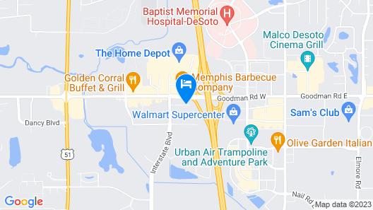 Drury Inn & Suites Memphis Southaven Map