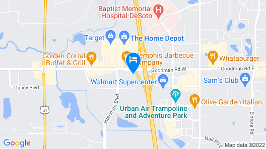 Wingate by Wyndham Horn Lake Southaven Map
