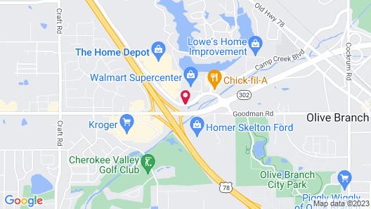 Hilton Garden Inn Olive Branch, MS Map