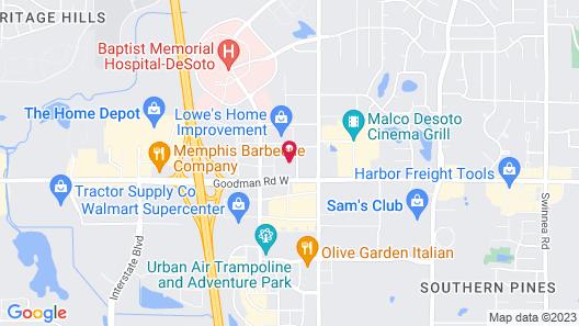 Comfort Suites Southaven I-55 Map