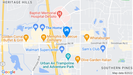Holiday Inn Express & Suites Southaven Central - Memphis Map