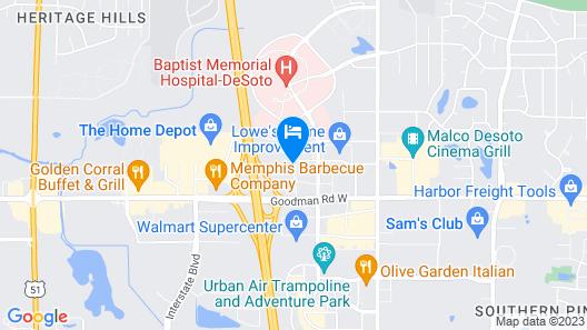 Fairfield Inn Memphis Southaven by Marriott Map