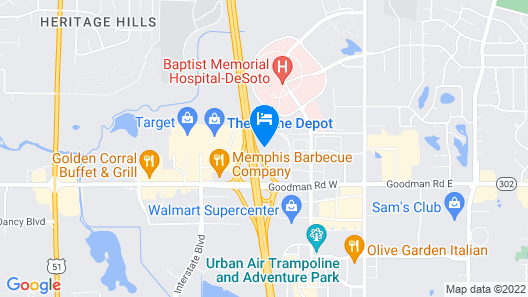 TownePlace Suites by Marriott Memphis Southaven Map