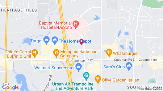 Holiday Inn Express & Suites Southaven Central - Memphis, an IHG Hotel Map