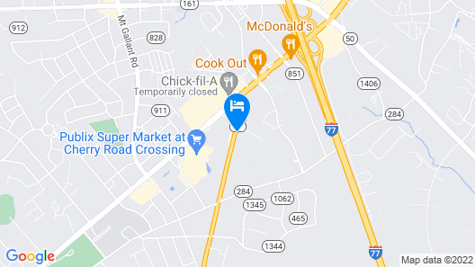 Clarion Pointe Rock Hill - Near Training Camp Map