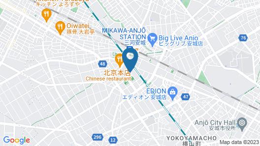 HOTEL LiVEMAX MIKAWAANJO-EKIMAE Map