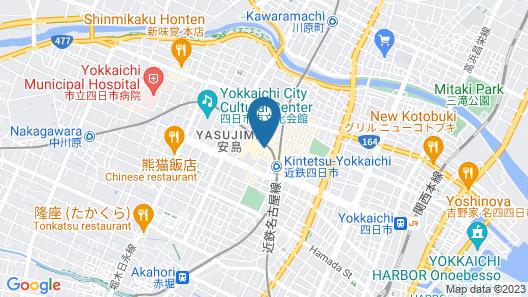 Sanco Inn Yokkaichi-Ekimae Map