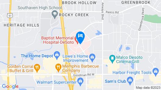 Residence Inn by Marriott Memphis Southaven Map
