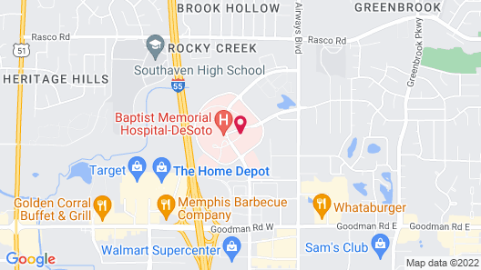 Courtyard by Marriott Memphis Southaven Map