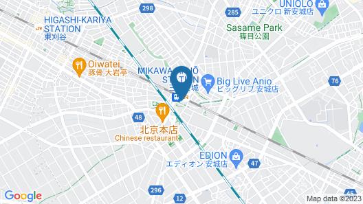 AB Hotel Mikawa-anjo Honkan Map