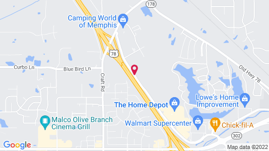 Candlewood Suites Olive Branch, an IHG Hotel Map