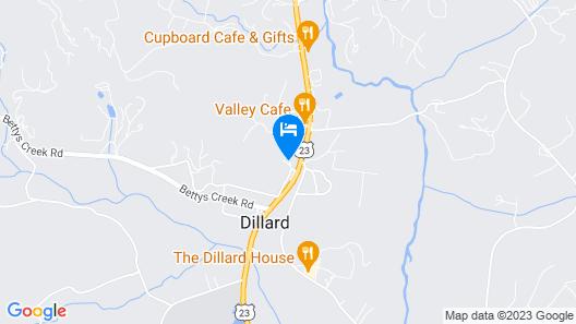 Budgetel Dillard Map