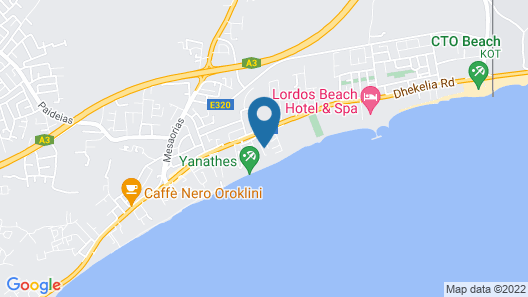 Nefeli Larnaca Beach Villa Map