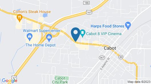 Americas Best Value Inn Cabot Map