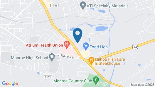 Super 8 by Wyndham Monroe Map