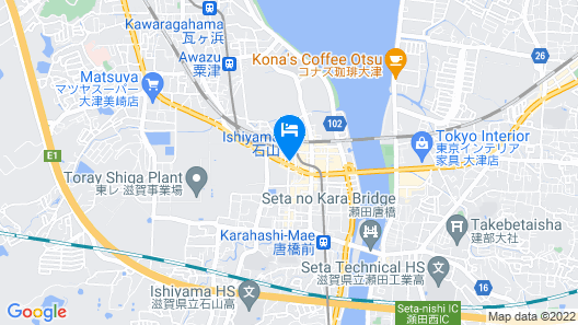 Reiah Hotel Otsu Ishiyama Map