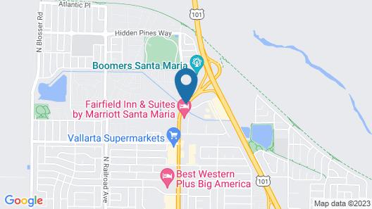 Holiday Inn Hotel and Suites Santa Maria Map