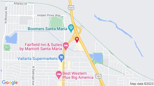 Motel 6 Santa Maria, CA Map