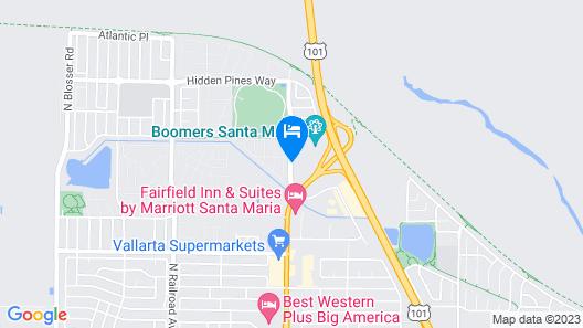 Hampton Inn & Suites Santa Maria Map