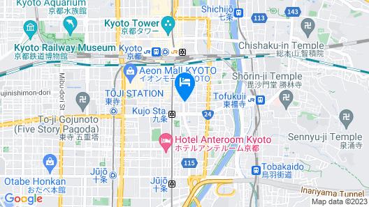 HOTEL KEIHAN KYOTO HACHIJOGUCHI Map