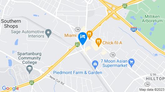 Holiday Inn Spartanburg Northwest, an IHG Hotel Map