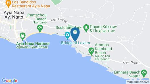 Tranquility Beachfront Villa Map