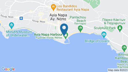 Limanaki Beach Hotel Map