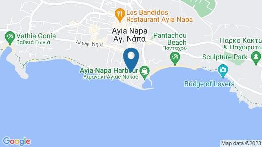 Faros Hotel Ayia Napa Map