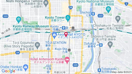 Via Inn Kyoto Station Hachijoguchi Map