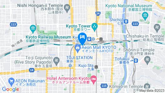 Miyako Hotel Kyoto Hachijo (Former New Miyako Hotel) Map