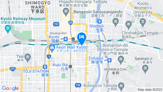 Daiwa Royal Hotel Grande Kyoto Map
