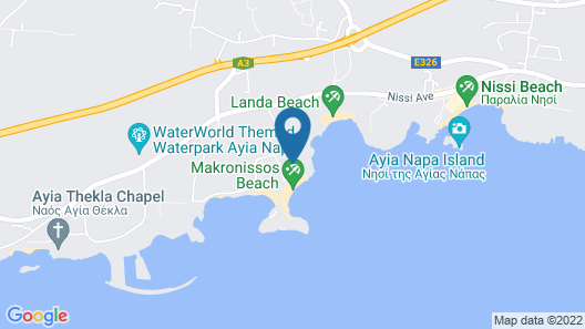 Asterias Beach Hotel Map