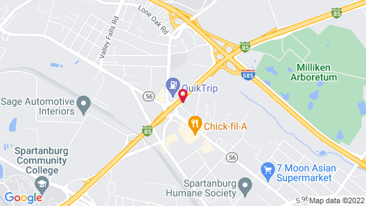 Sonesta Select Spartanburg Map