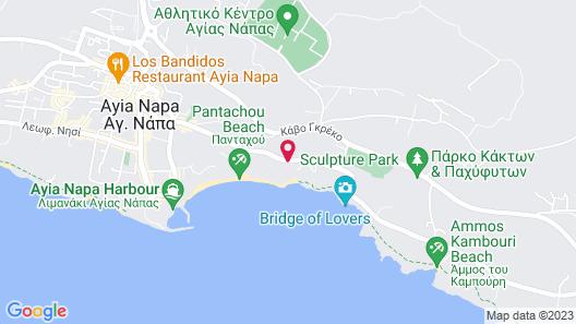 Napa Mermaid Hotel & Suites Map