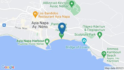 Grecian Bay Hotel Map