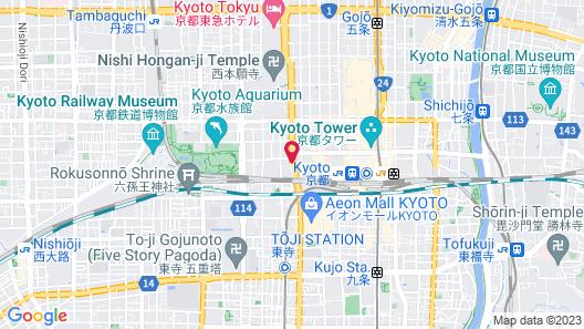 RIHGA Royal Hotel Kyoto Map