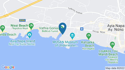 Chrysomare Beach Hotel and Resort Map